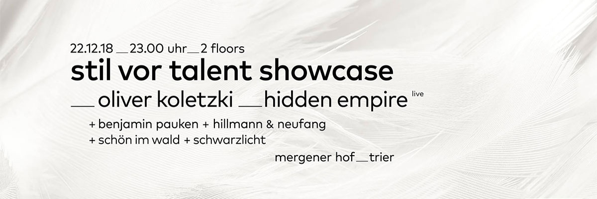 StilVorTalent events